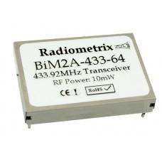 BiM2A-433-10 : UHF Wideband FM Radio Transceiver 433.920MHz, 10kbps, 10mW