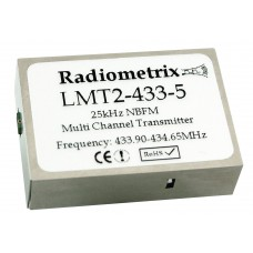 LMT2-433-5 : UHF Narrow Band FM Multi-Channel Radio Transmitter, 433MHz, 5kbps, 25mW