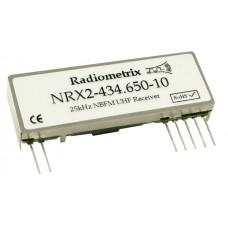NRX2-434.650-10 : UHF Narrow Band FM Receiver, 434.650MHz, 10kbps