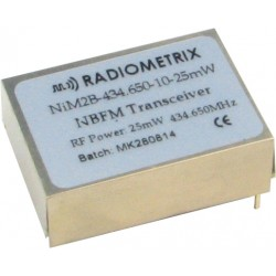 NiM2B-434.650-10-25mW : UHF Narrow Band FM Transceiver, 434.650MHz, 10kbps, 25mW