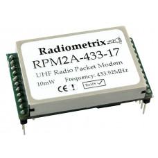 RPM2H-433-17 : UHF OEM Radio Packet Modem. 433.920MHz, 25mW