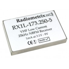 RX1L-173.250-5 : VHF Narrow Band FM Low Current Receiver, 173.250MHz, 5kbps