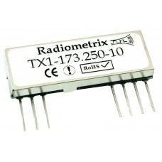 TX1-173.250-10 : VHF Narrowband Transmitter 173.250MHz, 10kbps, 10mW