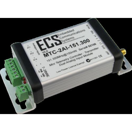 MTC-2AI-434.650 : MTC Dual Analog Input Transmitter. UHF. 434.650MHz. 10mW. 0-20mA