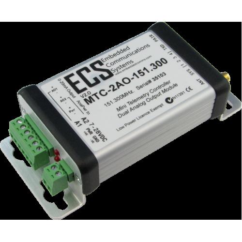MTC-2AO-434.650 : MTC Dual Analog Output Receiver. UHF. 434.650MHz. 0-20mA