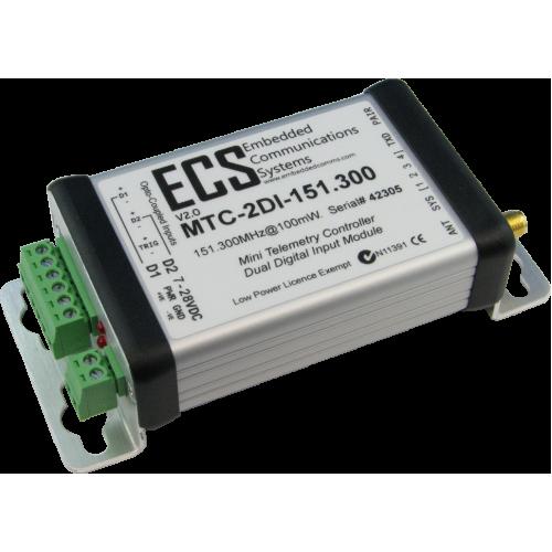 MTC-2DI-151.300 : MTC Dual Digital Input Transmitter. VHF. 151.300MHz. 100mW. Opto