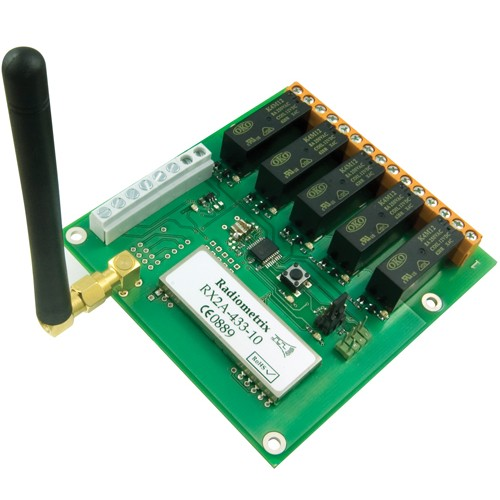 KDEC-433-000 : Code hopping receiver with up to 5 relay outputs