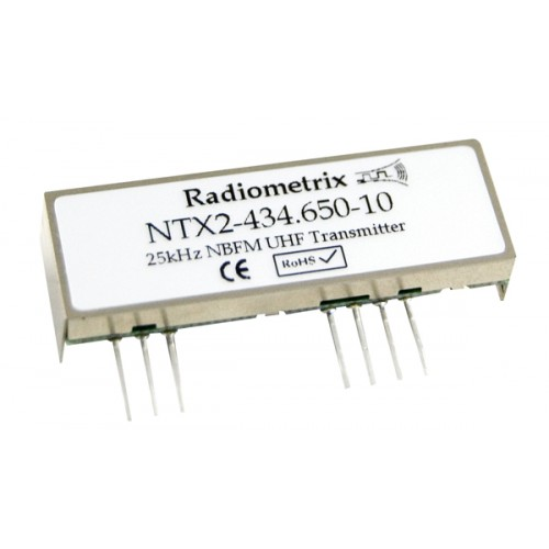 NTX2-434.075-10 : UHF Narrow Band FM Transmitter, 434.075MHz, 10kbps, 10mW