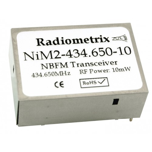 NiM2-434.075-10 : UHF Narrow Band FM Transceiver, 434.075MHz, 10kbps, 10mW