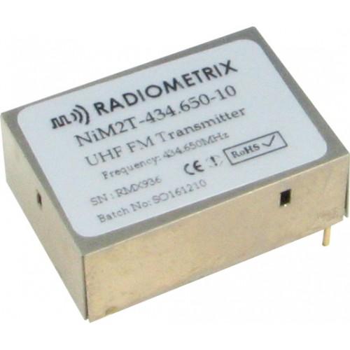 NiM2BT-434.650-10-25mW : UHF Narrow Band FM Transmitter, 434.650MHz, 10kbps, 25mW