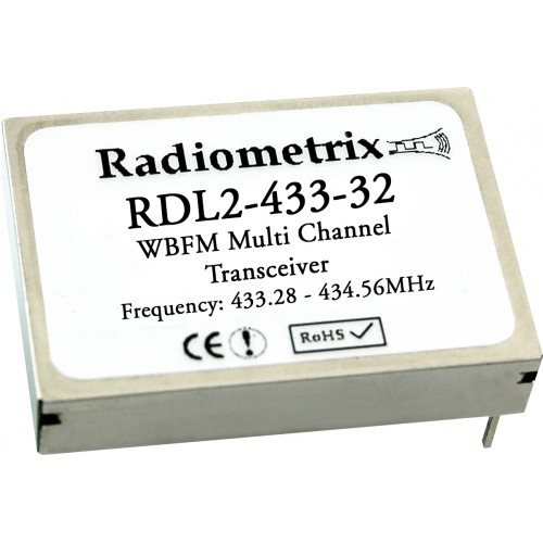 RDL2-433-32 : UHF Multi Channel Wide Band FM Transceiver. 433.28~434.56MHz @ 10mW
