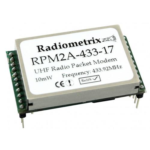 RPM2A-433-17 : UHF OEM Radio Packet Modem. 433.920MHz, 10mW