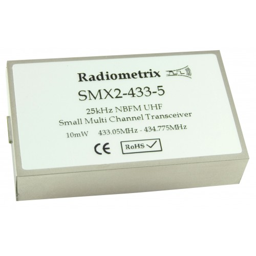 SMX2-433-5-25mW : UHF Narrow Band FM Multi channel Transceiver, 433MHz, 25mW