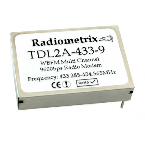 TDL2A-433-9 : UHF High Power Multichannel Transparent Data Link