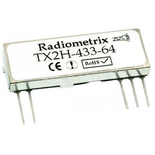 TX2EH-433-64-5V : UHF 433MHz FM Transmitter, 433.920MHz, 64kbps, 100mW, 5.0V