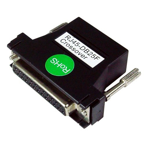 G0401079 : RJ45 to DB25F Cable Adapter, Crossover, Bundle of four