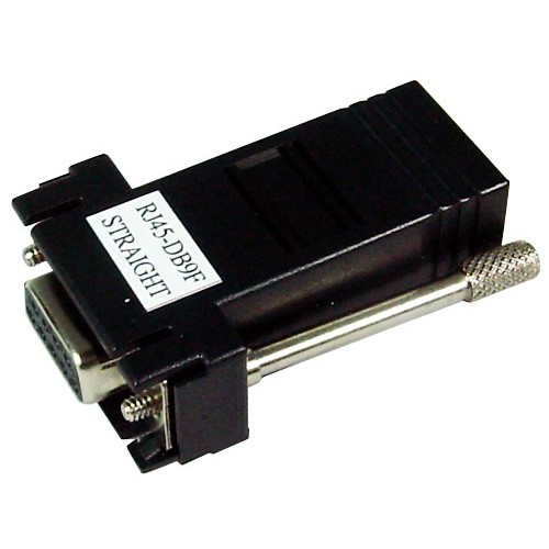 G0401083 : RJ45 to DB9F Cable Adapter, Straight, Bundle of four